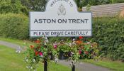 Aston on Trent Welcome Sign